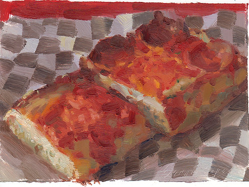 Paint Drip #123 Detroit-Style Pizza 3