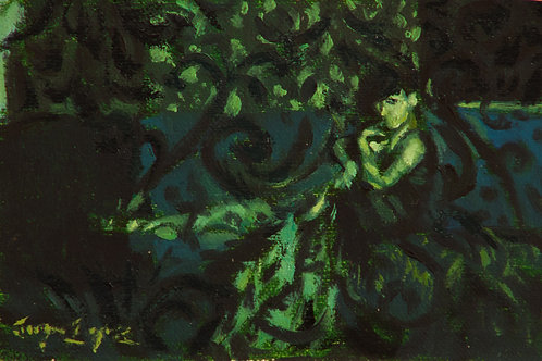 Lucid Color: 3x4 Inch Study (Green)
