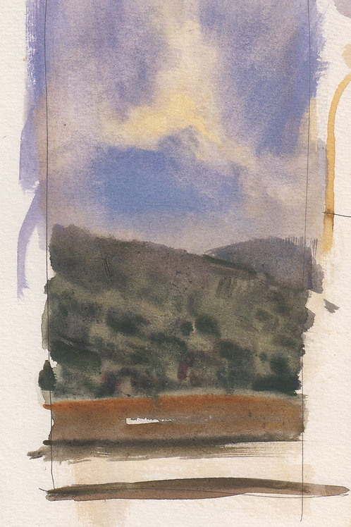 Watercolor: Tomales Bay Sketch