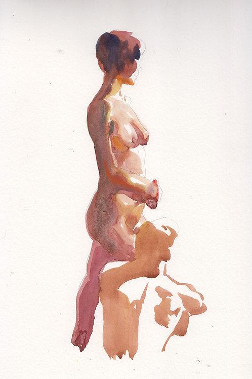Watercolor: Couple #1