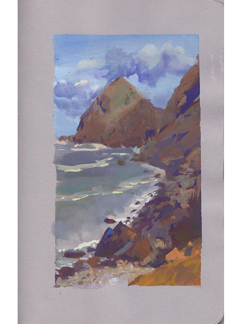 Paint Drip #21: Rocky Beach At Arch Cape