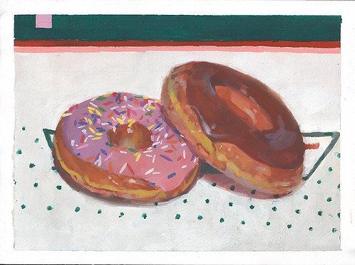 Krispy Kremes In Gouache