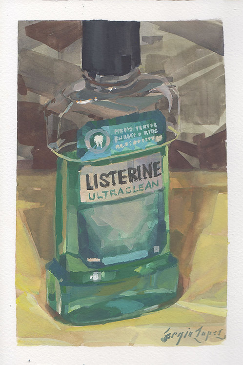 Paint Drip #119 Listerine Bottle