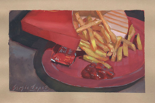 Paint Drip #139 McDonalds Fries With Ketchup