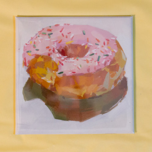 """""""Strawberry Donut"""" 3x3 in. Magnet"""