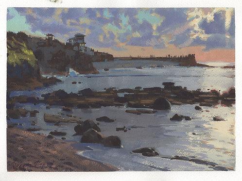 "La Jolla 9x12"" Gouache Painting"