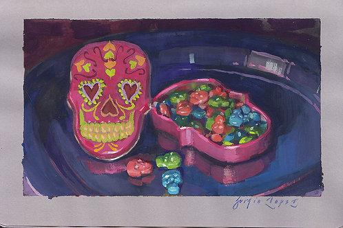 Paint Drip #132 Sugar Skull Candy Tin
