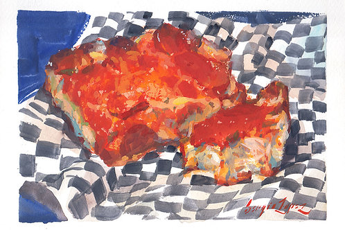 Paint Drip #121 Detroit-Style Pizza 1