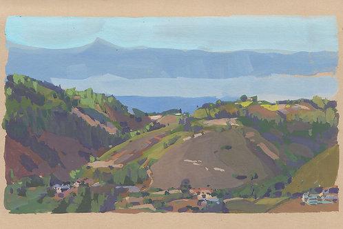 Paint Drip #110 Loma Prieta From Saddle Mountain
