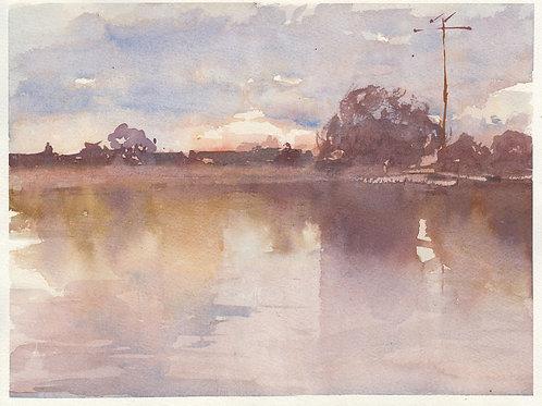 Watercolor: Lagoon