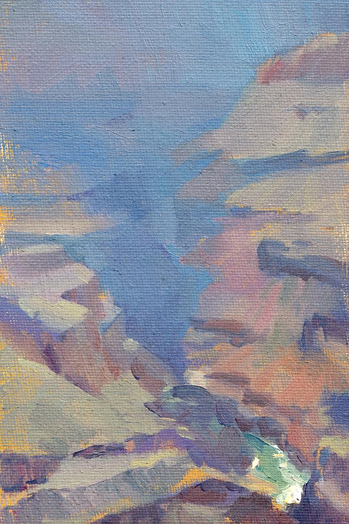 """""""Grand Canyon Study"""" Oil on canvas board."""