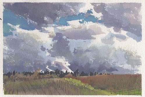 Paint Drip #154 Laguna Trail Clouds
