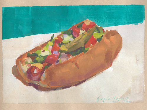 Paint Drip #42 Mexican Hot Dog