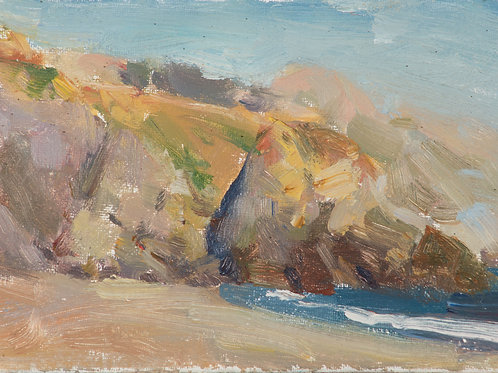 """Doran Beach"" oil on linen board."
