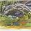 """Thumbnail: """"Ediza Lake Stream"""" Gouache on paper."""