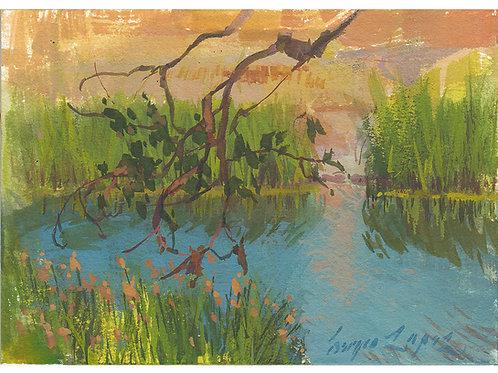 Paint Drip #72 The Third Lake