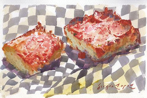 Paint Drip #122 Detroit-Style Pizza 2