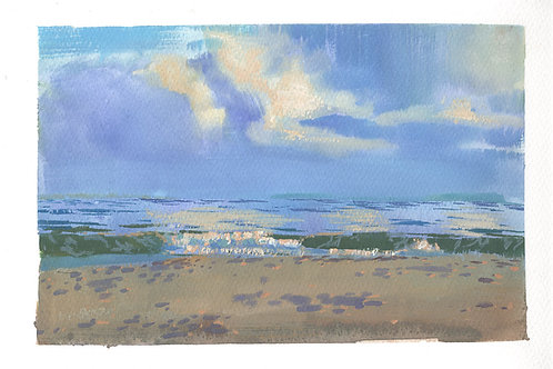 Paint Drip #166 Doran Beach Clouds