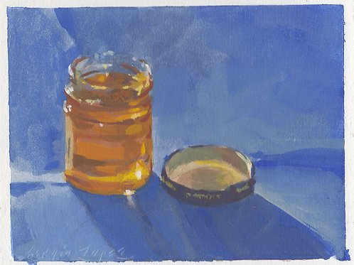 Paint Drip #85 Honey Jar
