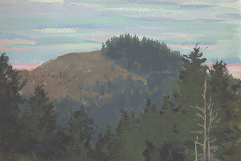 Paint Drip #157 View Of Red Hill