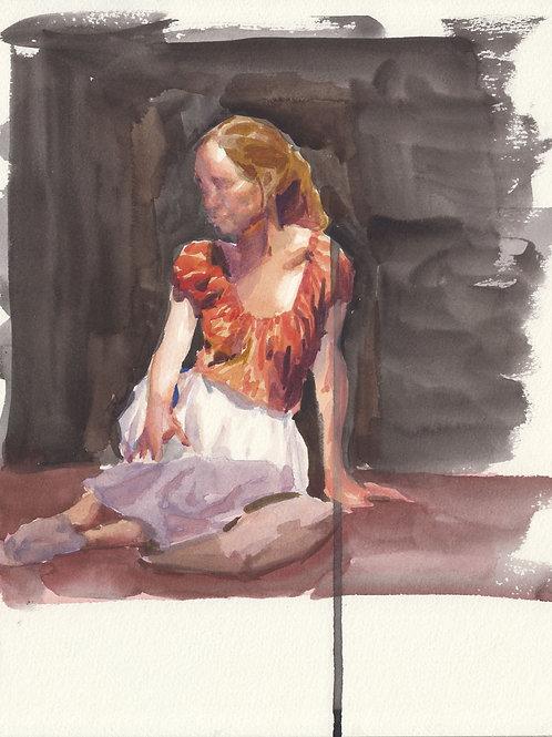 Watercolor: Redhead