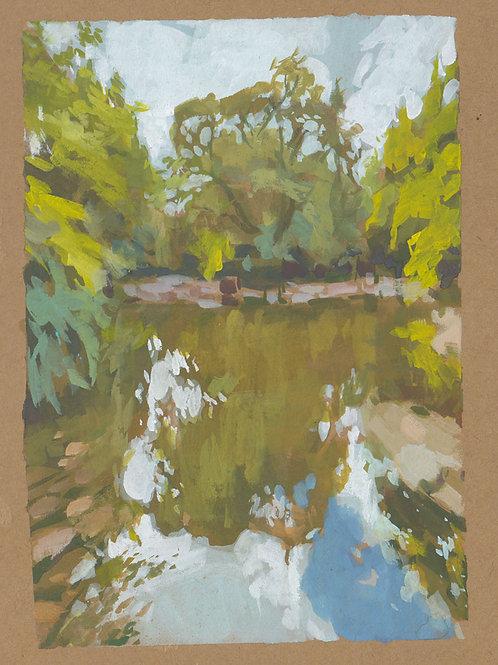 Paint Drip #28 Ashland Pond In Gouache