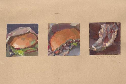 Paint Drip #141 Burger Sequence 1