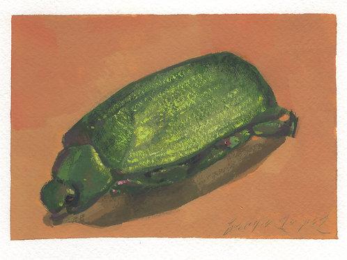 Paint Drip #151 Green Beetle