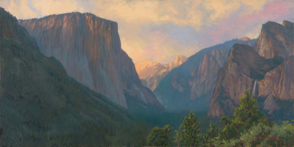 Yosemite Valley View 20x40 inches.