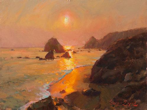 """Jenner Headlands Sunset"" 10x13 in. Print"