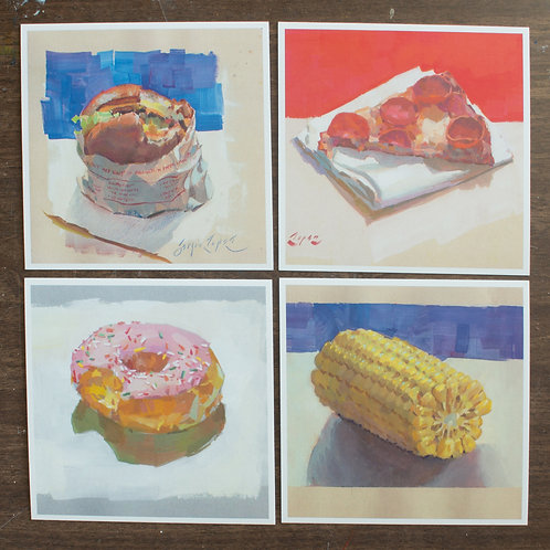 Paint Drip Square Postcard Pack #2