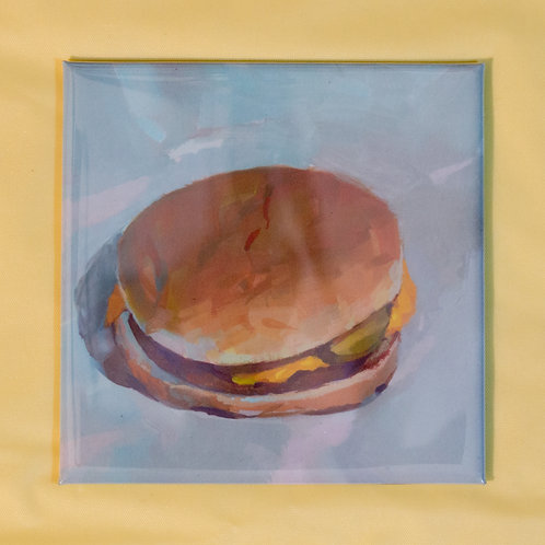 """Cheeseburger"" 3x3 in. Magnet"