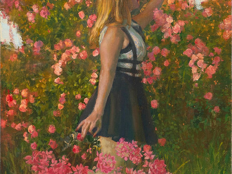 """The Art Of Watching A Flower Grow"" Oil Painting"