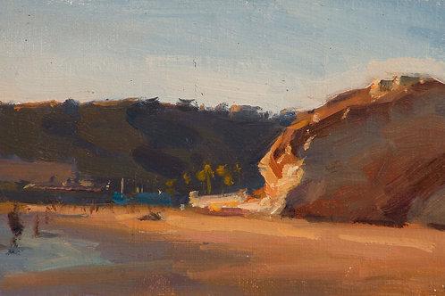 """Avila Beach Evening"", 4x6"" oil painting on linen"
