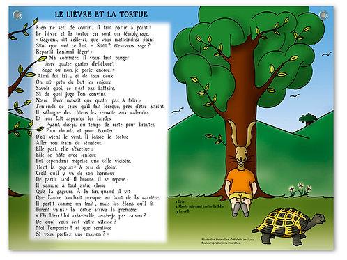 """Planche murale """"Fables de La Fontaine"""" - Lièvre"""