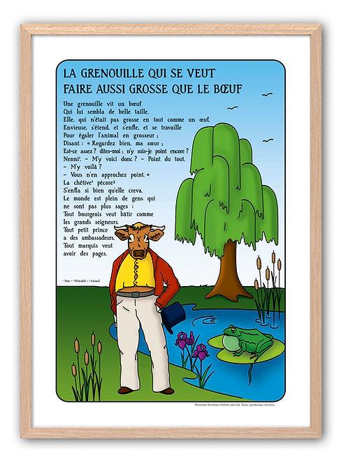 """Affiche """"Fables de La Fontaine"""" - Bœuf"""