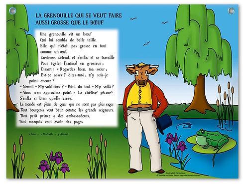 """Planche murale """"Fables de La Fontaine"""" - Bœuf"""