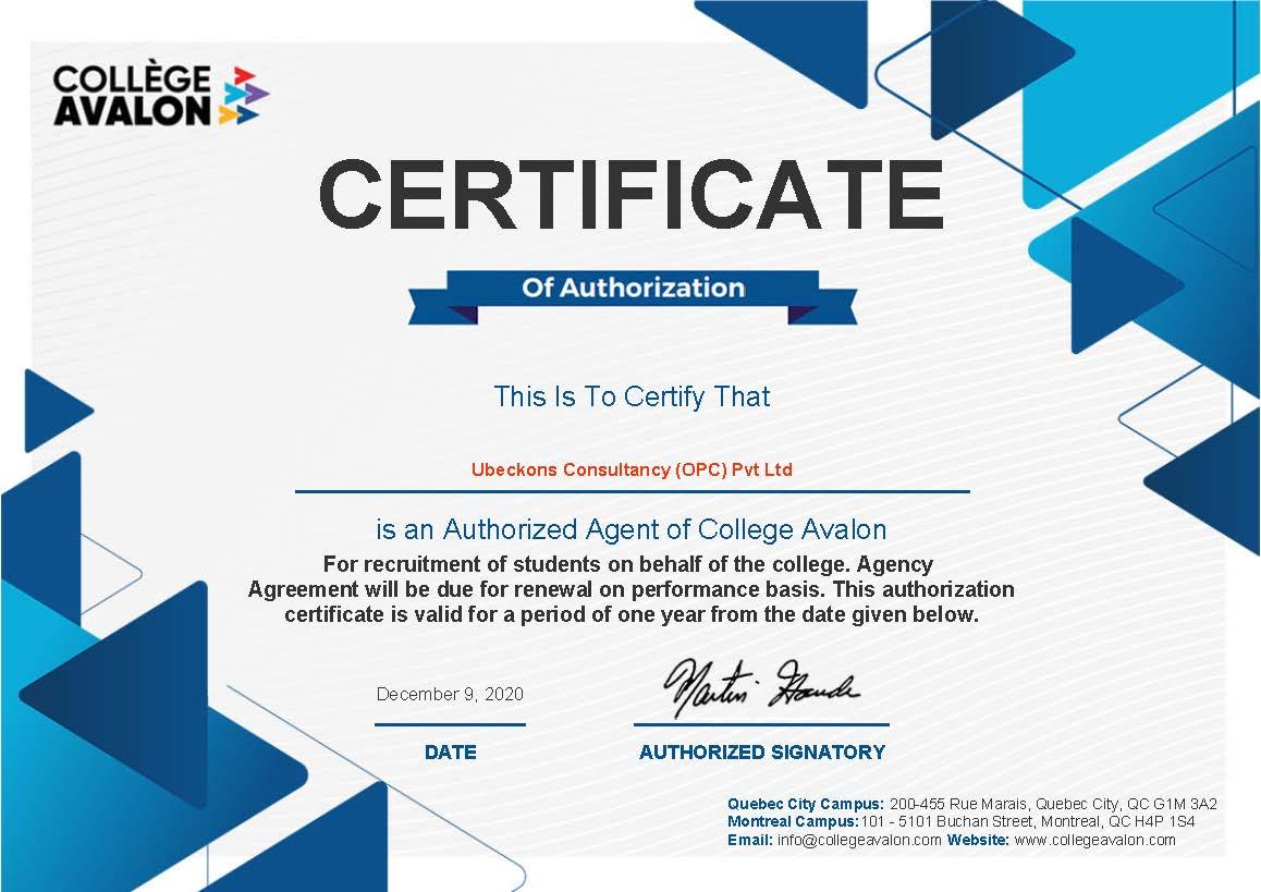 agent Certificate_15024837