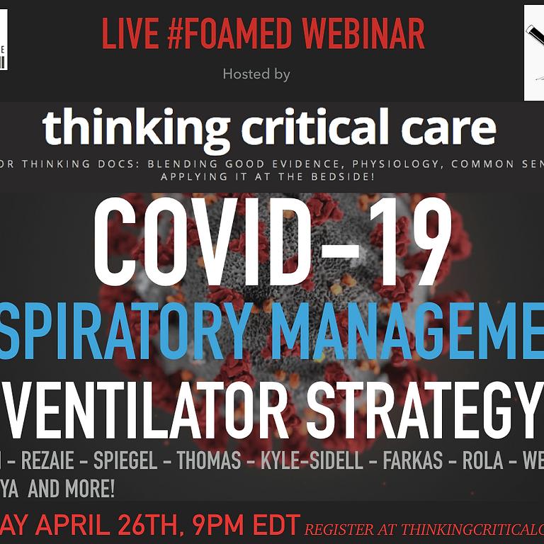 COVID19 Ventilator Strategies Webinar