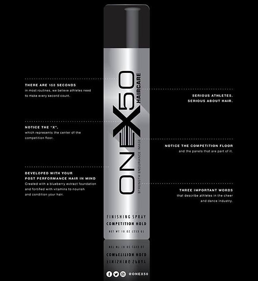 oneX50 Competition Strength Hairspray