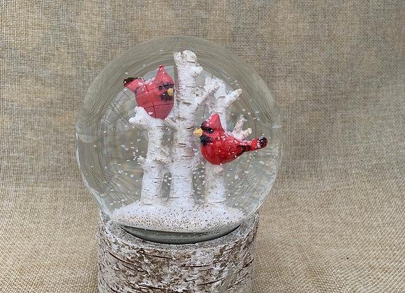 Cardinal Birch Water Globe