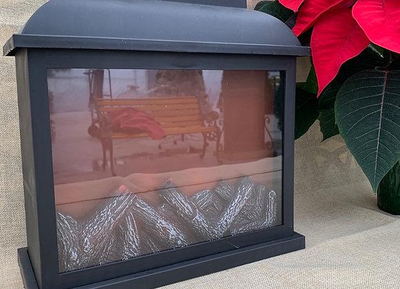 Large Lantern LED Fireplace