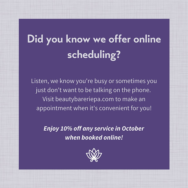 Enjoy 10% off when you schedule online t