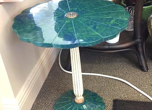 Green U0026 Blue Marble Flower Petal Table