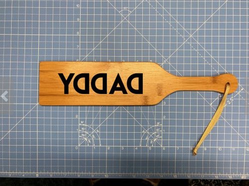 Personalized Spanking Wood Paddle Adult Bdsm Bondage Humorous Reverse Daddy