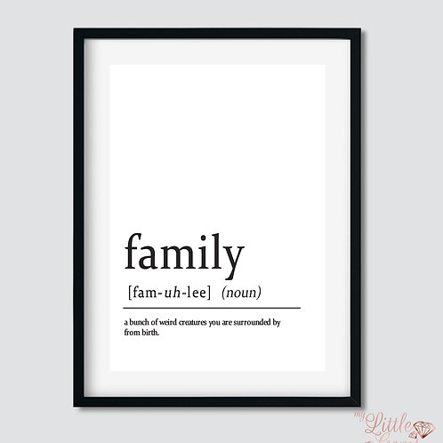 Family - Noun
