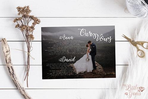 Photo Wedding Keepsake