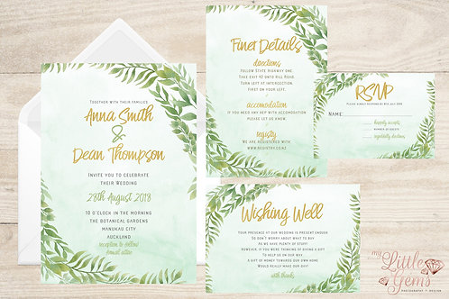 Wedding Stationary - Greenery