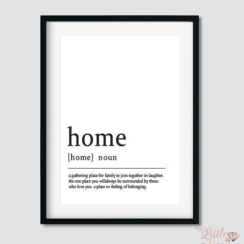 Home - Noun