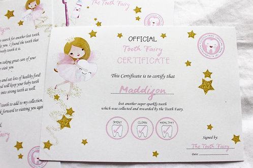 Additional Girl's Certificate